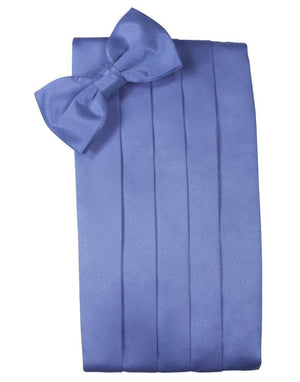Set Luxury Satin Cummerbund & Bow Tie - Cornflower - Faja