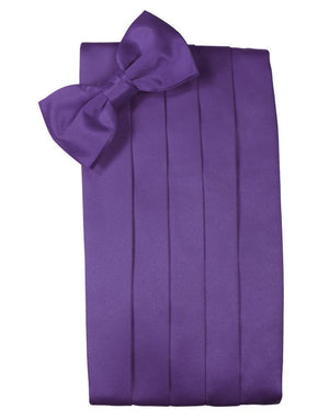 Set Luxury Satin Cummerbund & Bow Tie - Freesia - Faja