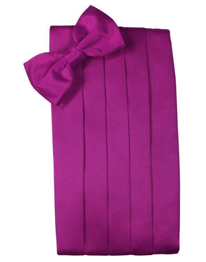 Set Luxury Satin Cummerbund & Bow Tie - Fuchsia - Faja