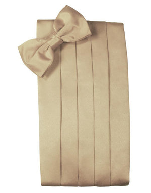 Set Luxury Satin Cummerbund & Bow Tie - Golden - Faja