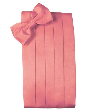 Set Luxury Satin Cummerbund & Bow Tie - Guava - Faja