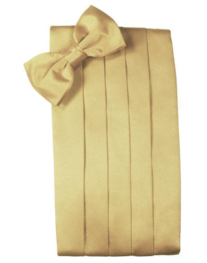 Set Luxury Satin Cummerbund & Bow Tie - Harvest Maize - Faja