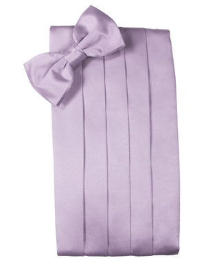 Set Luxury Satin Cummerbund & Bow Tie - Heather - Faja
