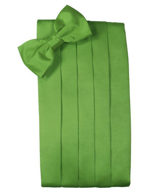 Set Luxury Satin Cummerbund & Bow Tie - Kelly - Faja