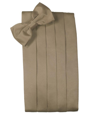 Set Luxury Satin Cummerbund & Bow Tie - Latte - Faja