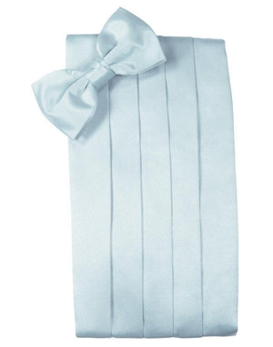 Set Luxury Satin Cummerbund & Bow Tie - Light Blue - Faja