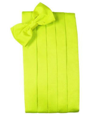 Set Luxury Satin Cummerbund & Bow Tie - Lime - Faja