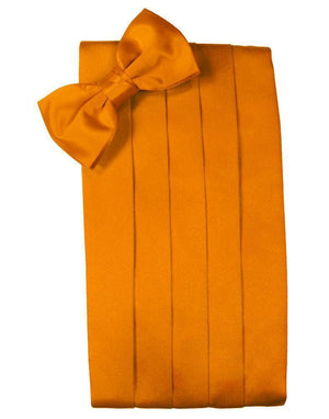 Set Luxury Satin Cummerbund & Bow Tie - Mandarin - Faja