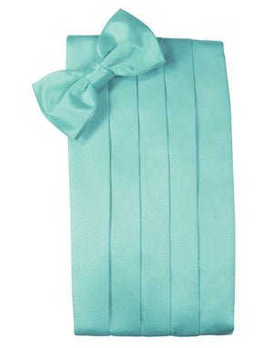 Set Luxury Satin Cummerbund & Bow Tie - Mermaid - Faja