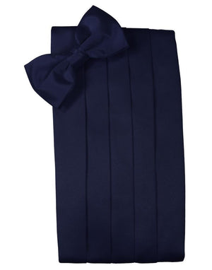 Set Luxury Satin Cummerbund & Bow Tie - Midnight - Faja