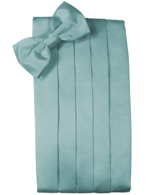 Set Luxury Satin Cummerbund & Bow Tie - Mist - Faja