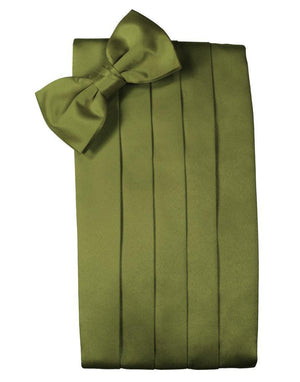 Set Luxury Satin Cummerbund & Bow Tie - Moss - Faja
