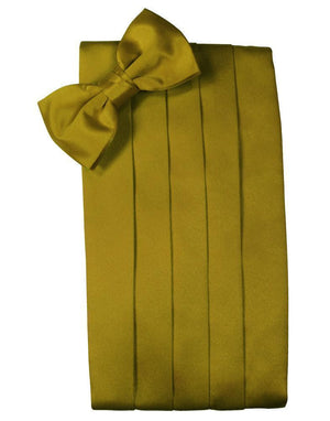 Set Luxury Satin Cummerbund & Bow Tie - New Gold - Faja
