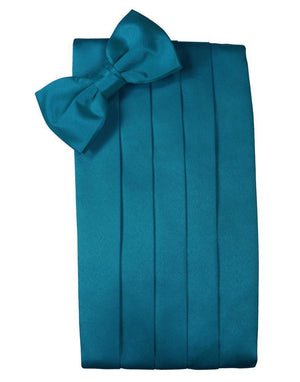 Set Luxury Satin Cummerbund & Bow Tie - Oasis - Faja