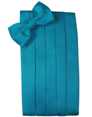 Set Luxury Satin Cummerbund & Bow Tie - Pacific - Faja