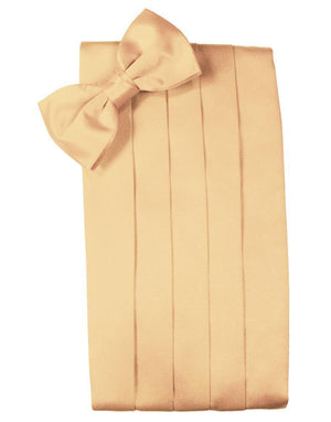 Set Luxury Satin Cummerbund & Bow Tie - Peach - Faja