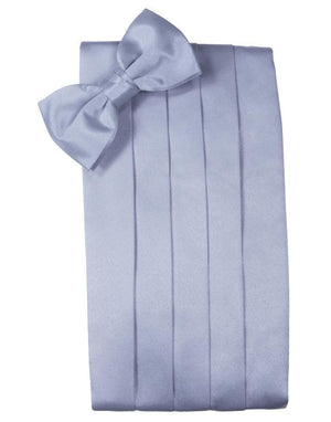 Set Luxury Satin Cummerbund & Bow Tie - Periwinkle - Faja