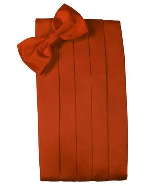Set Luxury Satin Cummerbund & Bow Tie - Persimmon - Faja