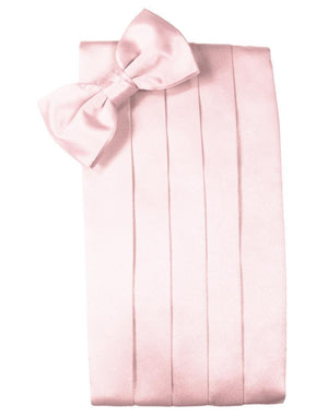 Set Luxury Satin Cummerbund & Bow Tie - Pink - Faja