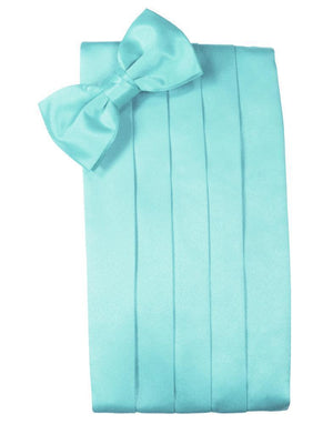 Set Luxury Satin Cummerbund & Bow Tie - Pool - Faja