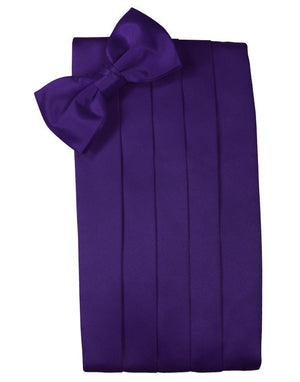 Set Luxury Satin Cummerbund & Bow Tie - Purple - Faja