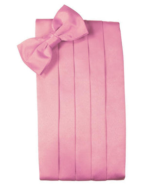 Set Luxury Satin Cummerbund & Bow Tie - Rose Petal - Faja