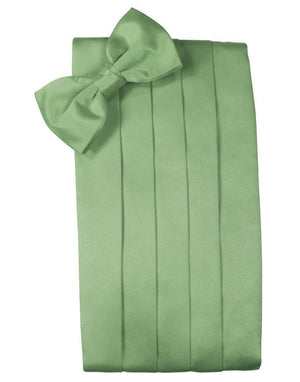 Set Luxury Satin Cummerbund & Bow Tie - Sage - Faja