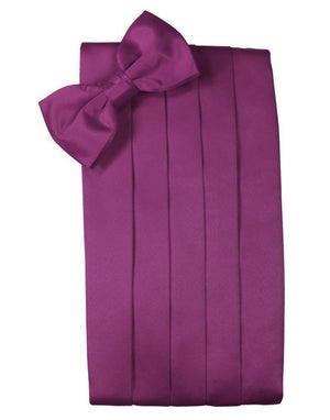 Set Luxury Satin Cummerbund & Bow Tie - Sangria - Faja