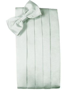 Set Luxury Satin Cummerbund & Bow Tie - Sea Glass - Faja