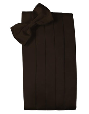 Set Luxury Satin Cummerbund & Bow Tie - Truffle - Faja