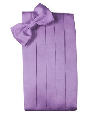 Set Luxury Satin Cummerbund & Bow Tie - Wisteria - Faja