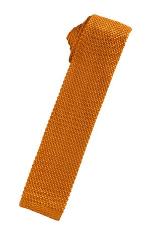 Silk Knit Necktie - Burnt Orange - corbata Caballero