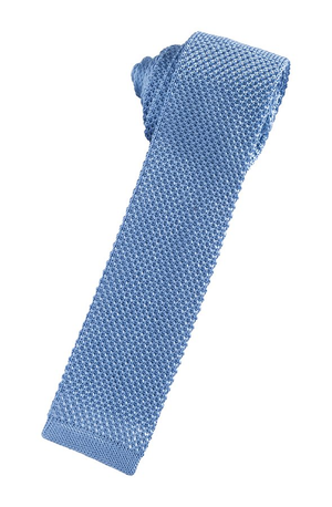 Silk Knit Necktie - Leisure Blue - corbata Caballero