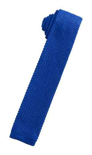 Silk Knit Necktie - Royal Blue - corbata Caballero