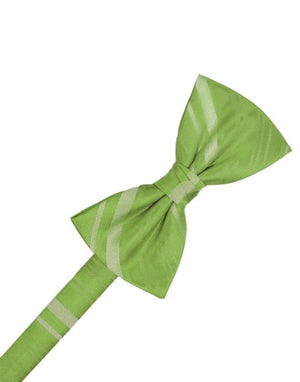 Striped Satin Kids Bow Tie - Clover - corbatin niño