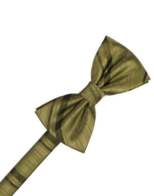 Striped Satin Kids Bow Tie - Fern - corbatin niño