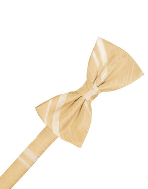Striped Satin Kids Bow Tie - Harvest Maize - corbatin niño