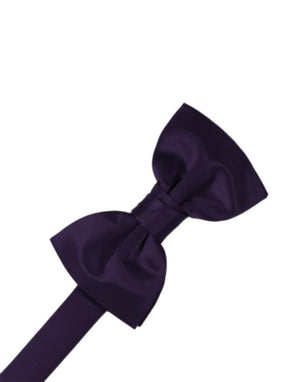 Striped Satin Kids Bow Tie - Lapis - corbatin niño