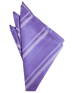 Striped Satin Pocket Square - Freesia - Pañuelo Caballero