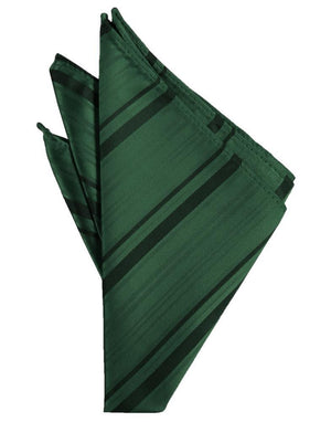 Striped Satin Pocket Square - Holly - Pañuelo Caballero