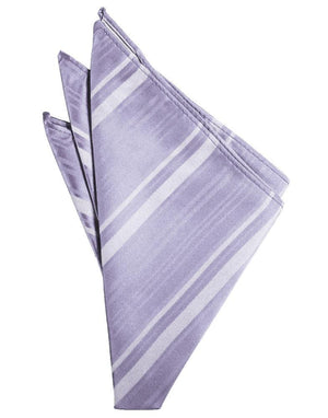Striped Satin Pocket Square - Periwinkle - Pañuelo Caballero
