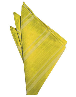 Striped Satin Pocket Square - Willow - Pañuelo Caballero