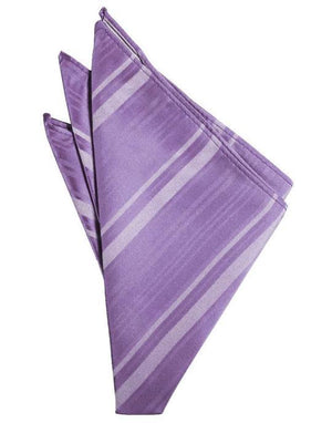Striped Satin Pocket Square - Wisteria - Pañuelo Caballero