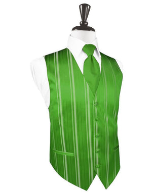 Striped Satin Tuxedo Vest 3 - XS / Kelly - Chaleco Caballero