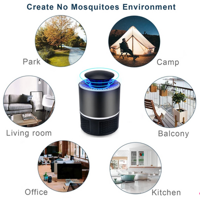MOSQUITO QUIETKILLER™ LAMP - CERTIFIED USB-POWERED LED MOSQUITO TRAP [QUIET + NON-TOXIC]