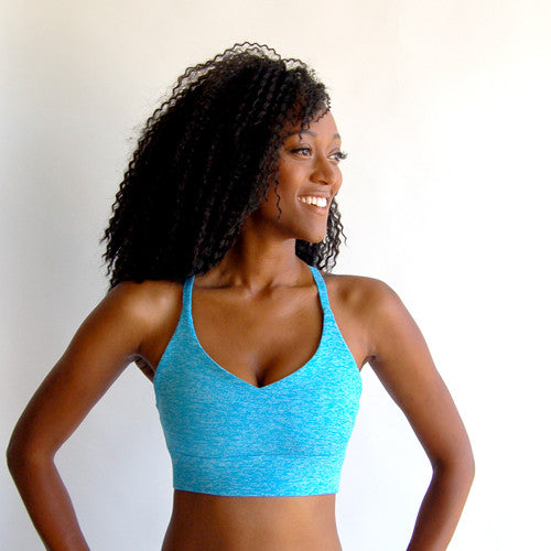 Turquoise Heather - Basic Bra