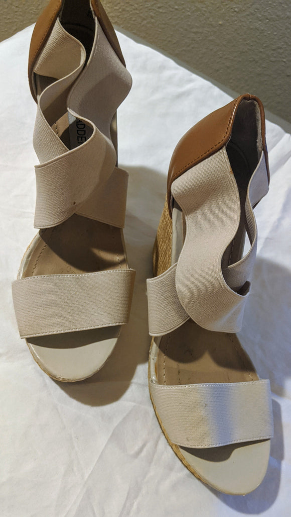 Steve Madden, Brown Espadrille Wedge Sandals