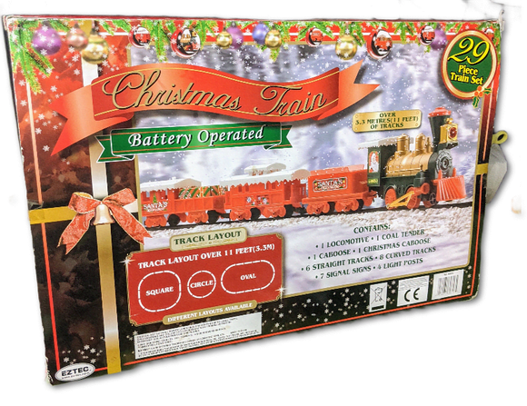 EzTec, Battery operated 29 piece Christmas train set