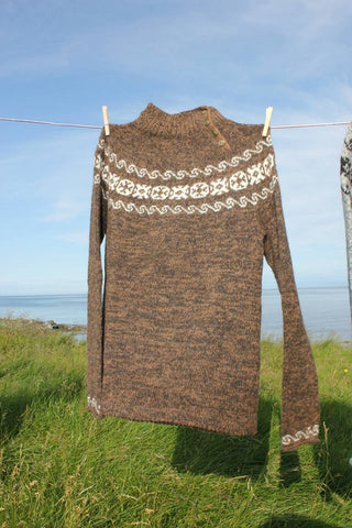 "Móakot - ""Bjarni"" Wool Sweater Pattern - ISLANDICA.com"