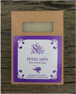 Hrein Sæla - Pure Herbal Soap with lavander - ISLANDICA.com